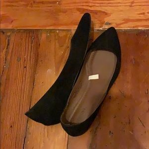 Merona Shoes - Merona black flats - like new!